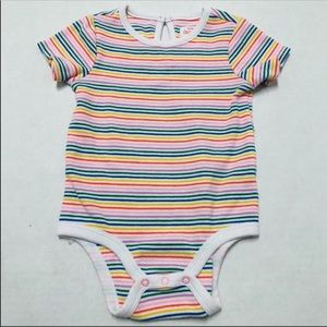 🆑5/$25 Cat & Jack striped baby girls onesie 3-6 M